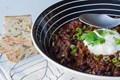 Venison black bean chili