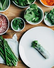 Vietnamese-style spring rolls