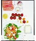 Warm chicken, tomato, feta and lemon salad