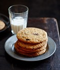 Warm choc-chip peanut butter cookies