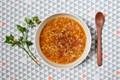 Warming pink lentil soup