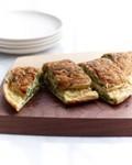 Watercress-Fontina souffléed omelet