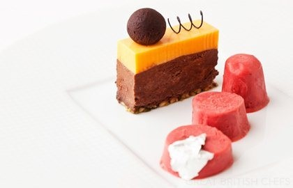 ... , dark chocolate-chilli delice, orange mousse and cranberry kulfi