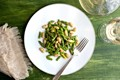 White bean and asparagus salad with tarragon-lemon dressing