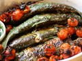 Whole fish in fines herbes sauce