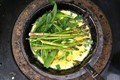 Wild garlic and asparagus crispy omelette