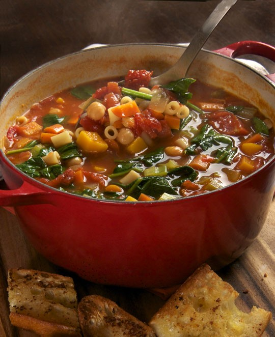 minestrone and parmesan biscuit potpie winter minestrone with swiss ...