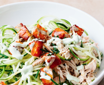 Zucchini Buffalo chicken salad