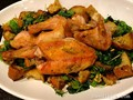 Zuni Cafe roast chicken and bread salad (simplified easy at-home version)